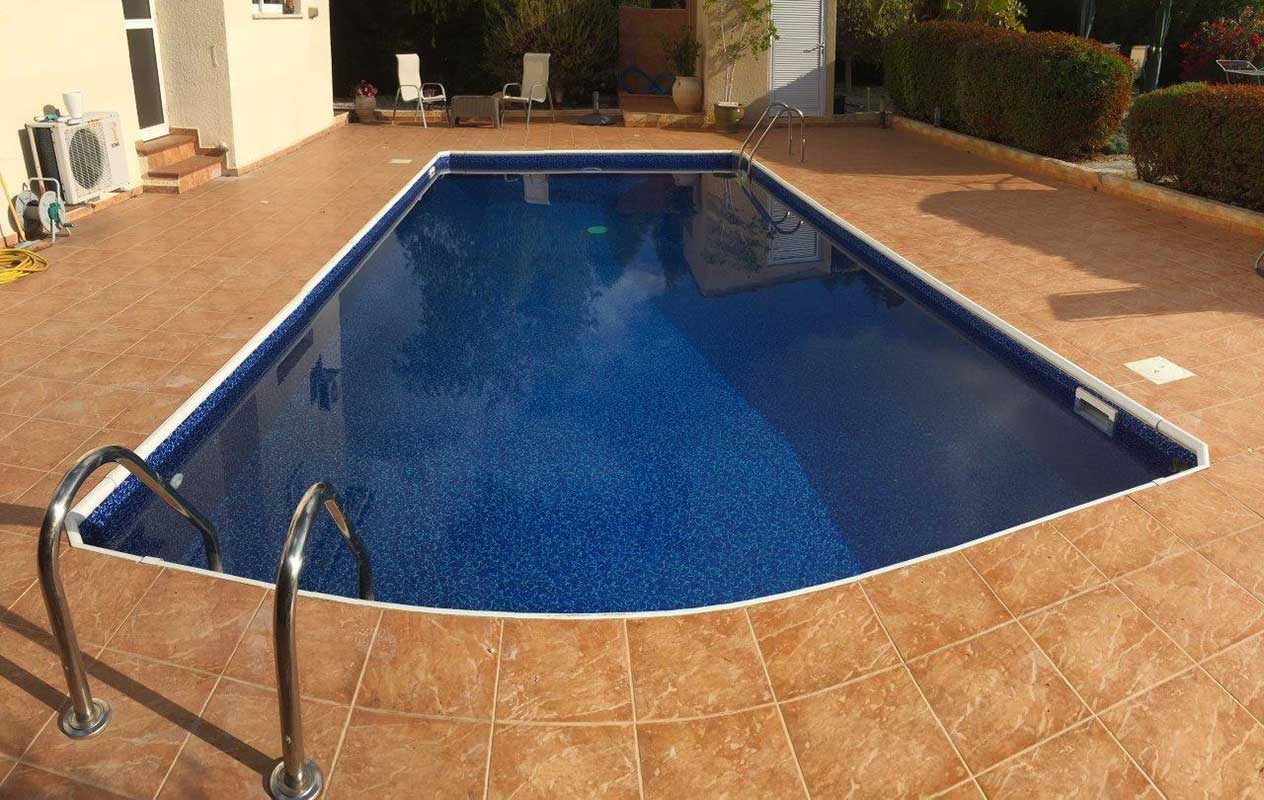 Canadian Aquarius Dark 1.5mm Liner fitted by The Pool People, Paphos Cyprus