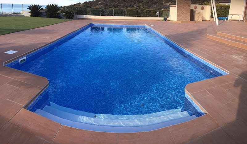 Elbtal Marble Blue Pool Liner Amp Non Slip Steps In Peyia