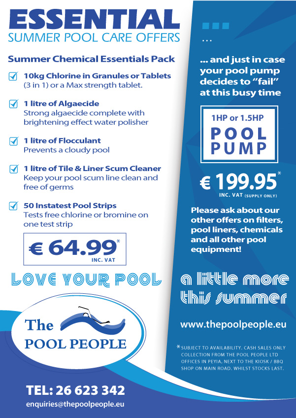 Essential Summer Pool Care Offers from The Pool People in Peyia